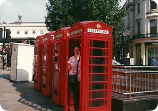 Jamie in a phone box